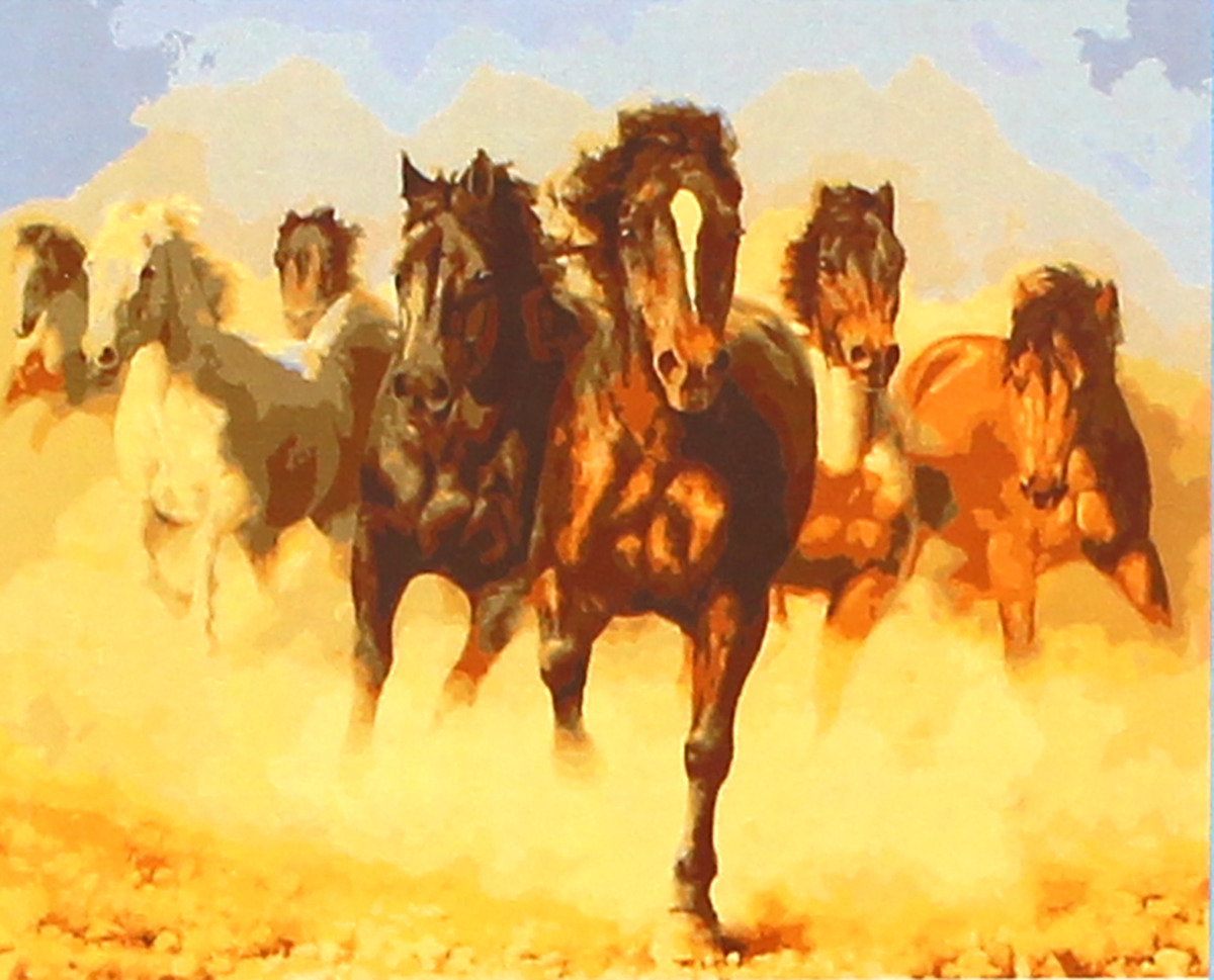 Фото - Набор для живописи Рыжий кот Лошади в пустыне, 50 х 40 см набор для живописи рыжий кот лошадь и кот в цветах 50 х 40 см