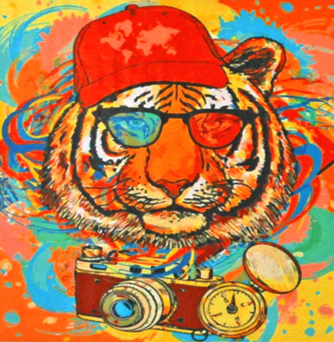 Фото - Набор для живописи Рыжий кот Тигр в очках, 50 х 40 см набор для живописи рыжий кот лошадь и кот в цветах 50 х 40 см