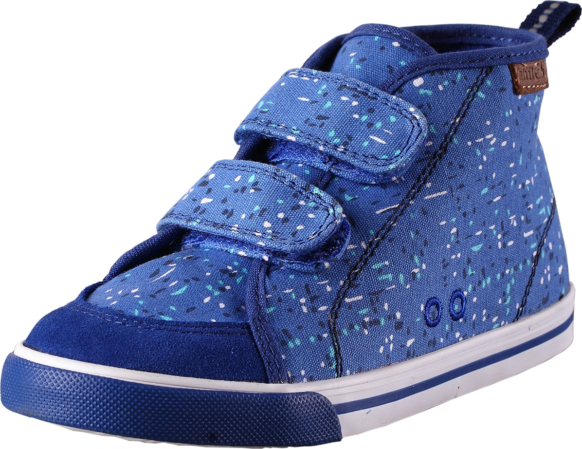 Ботинки детские Reima, цвет: синий. 5693356641. Размер 265693356641Стильные детские ботинки прекрасно подойдут для активного отдыха на открытом воздухе. Модель выполнена из текстиля с оригинальным рисунком. Удобные липучки надежно фиксируют модель на ноге. Задник оснащен ярлычком, который выполняет функцию ложки для обуви. Мягкая стелька из EVA-материала с текстильной поверхностью гарантирует максимальный комфорт при ходьбе. Подошва с рифлением обеспечивает отличное сцепление с поверхностью.