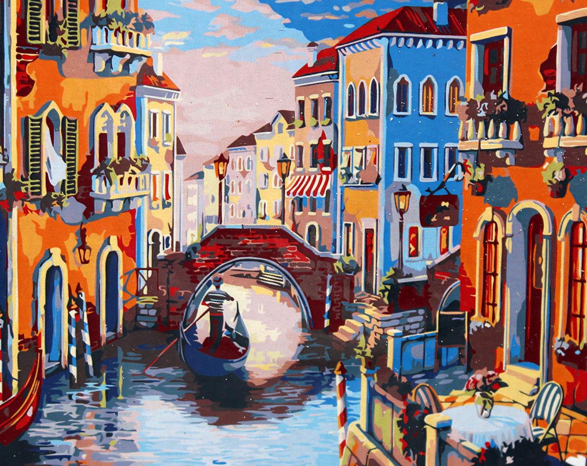 Набор для живописи Рыжий кот Вечерняя Венеция, 50 х 40 смХ-8309Перед вами замечательный набор для создания уникального шедевра изобразительного искусства. Создание картин на специально подготовленной рабочей поверхности – это уникальная техника, позволяющая делать ваши шедевры более яркими и реалистичными. Просто нанесите мазки на уже готовый эскиз и оживите картину! Готовые изделия могут стать украшением интерьера или прекрасным подарком близким и друзьям.