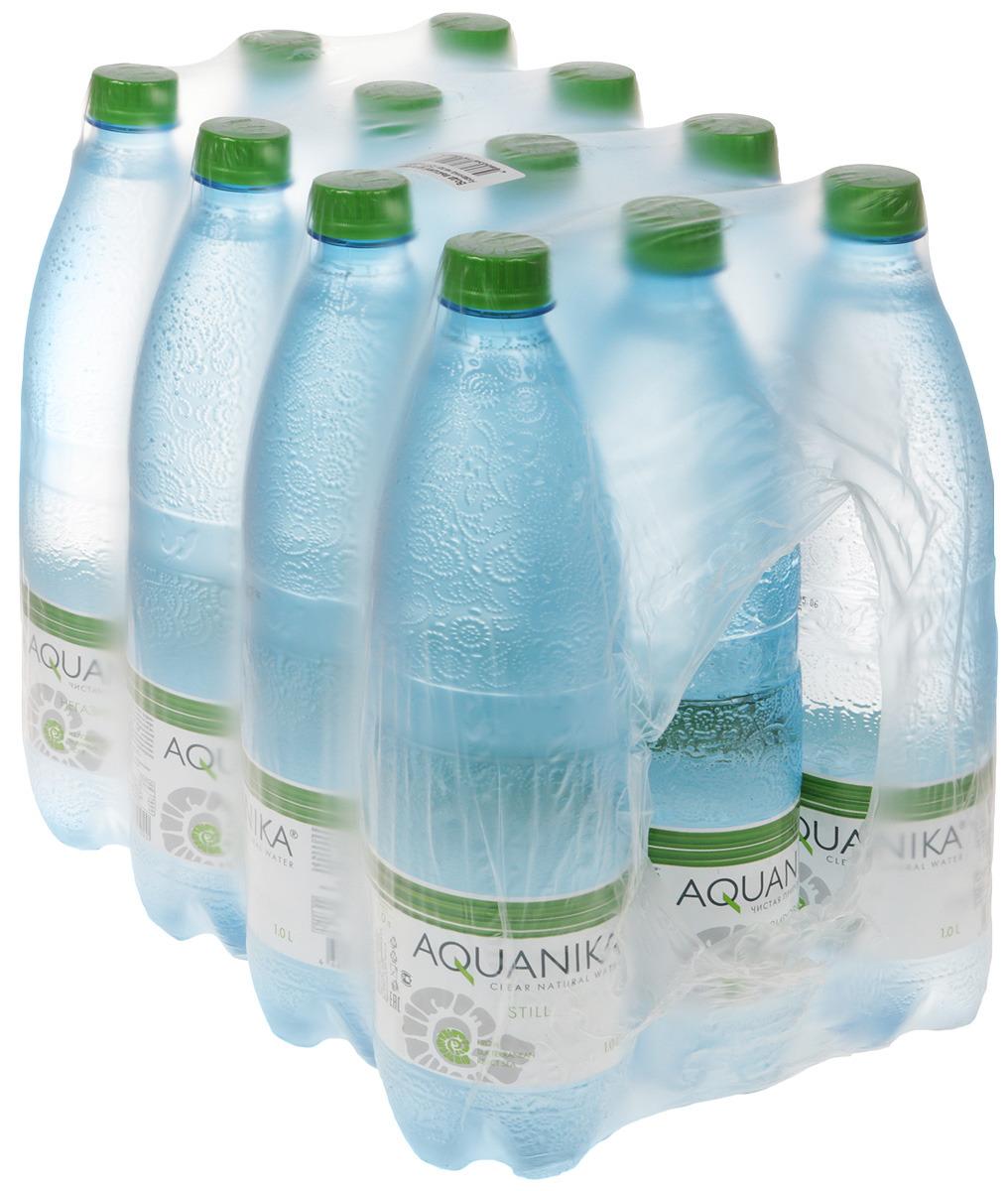 Вода Акваника высшей категории негазированная детская, 12 шт по 1 л