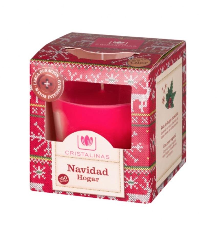 Свеча ароматизированная Cristalinas Новый год, красный автомобильные ароматизаторы cristalinas cristalinas ароматизатор автомобильный с ароматом новогодней ели 3 шт по 6 мл