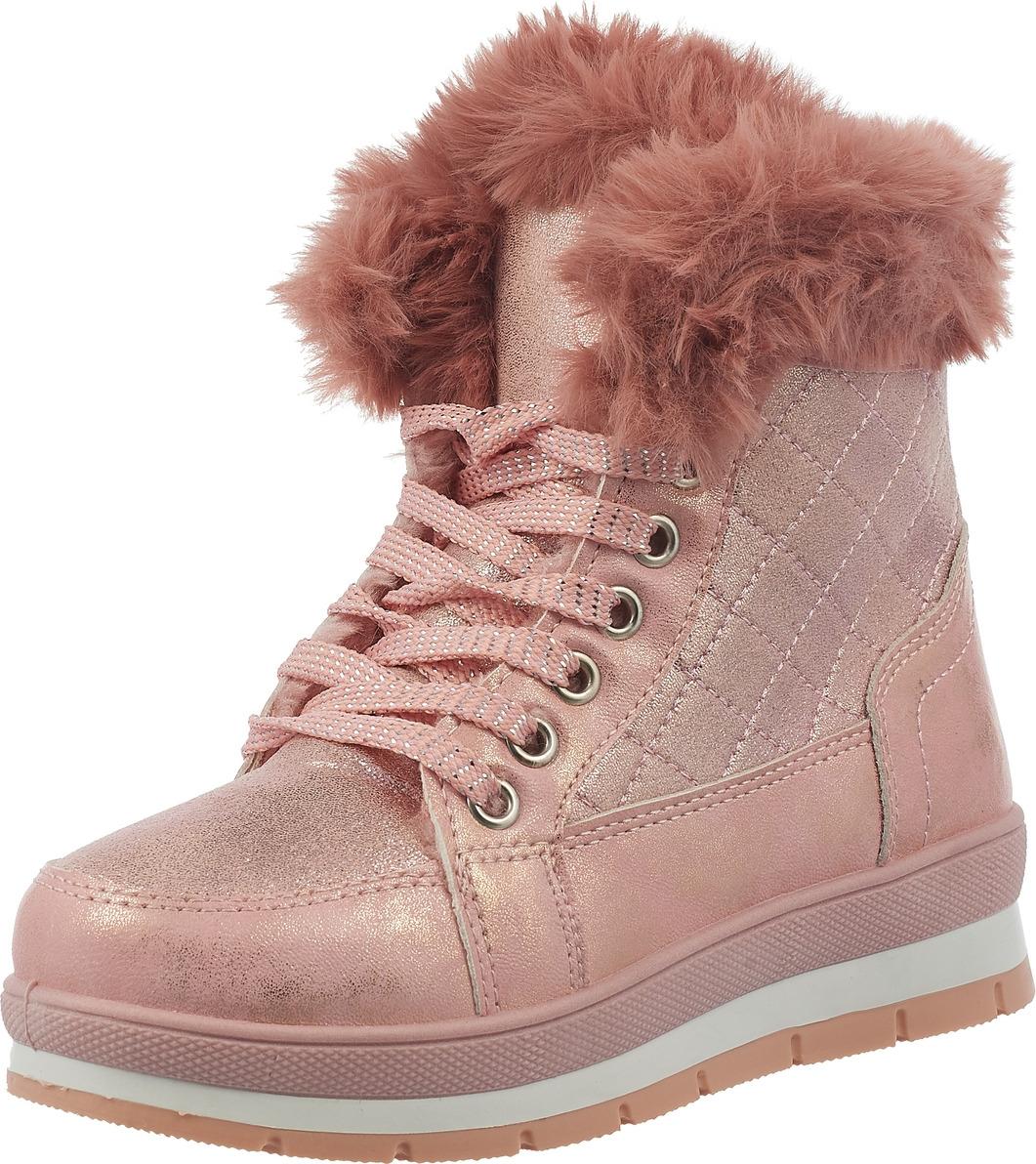 Ботинки для девочки Saivvila, цвет: розовый. PT03-6. Размер 34PT03-6