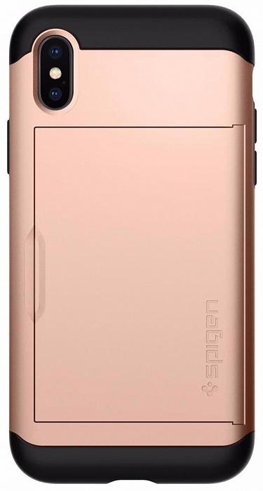 Чехол для сотового телефона SGP Slim Armor CS (057CS22157) для Apple iPhone X, золотой стоимость