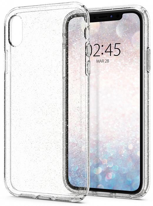 Чехол для сотового телефона SGP Liquid Crystal Glitter (064CS24867) для iPhone XR, прозрачный sva liquid crystal lt3232 main board 5800 a8m61a m010 screen lc320wxn