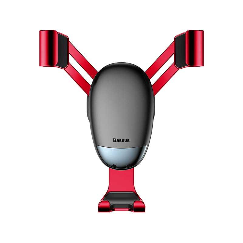 Автомобильный держатель Baseus SUYL-G09, красный автомобильный держатель для телефона в дефлектор baseus metal age gravity серый suyl d0g