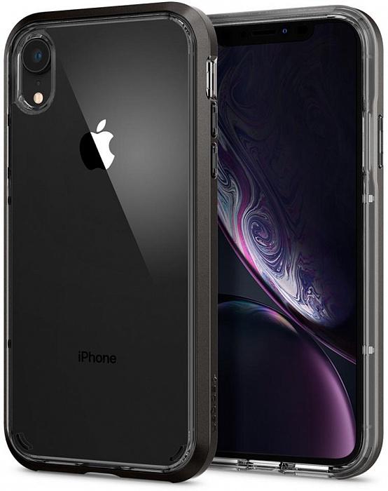 Чехол для сотового телефона SGP Neo Hybrid Crystal (064CS24884) для iPhone XR, серый аксессуар чехол spigen sgp neo hybrid metal series для iphone 6 plus 5 5 inch champagne sgp11071