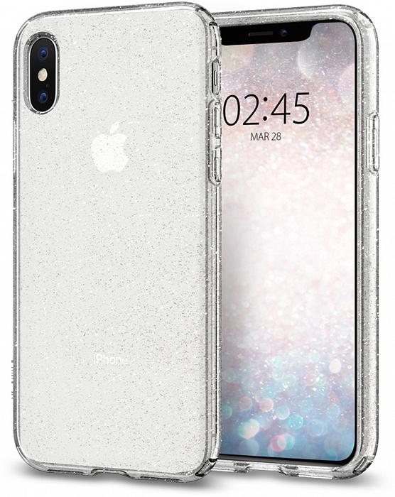 Чехол для сотового телефона SGP Liquid Crystal Glitter (063CS25111) для iPhone X/Xs, прозрачный nail art tips crystal glitter rhinestone decoration