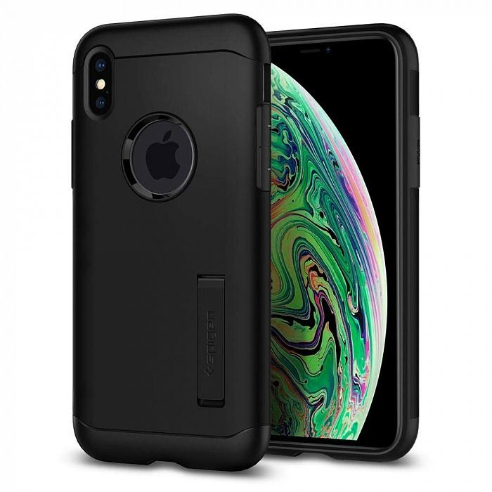 Чехол для сотового телефона SGP Чехол Spigen Slim Armor (065CS25156) для iPhone Xs Max (Black), черный цена