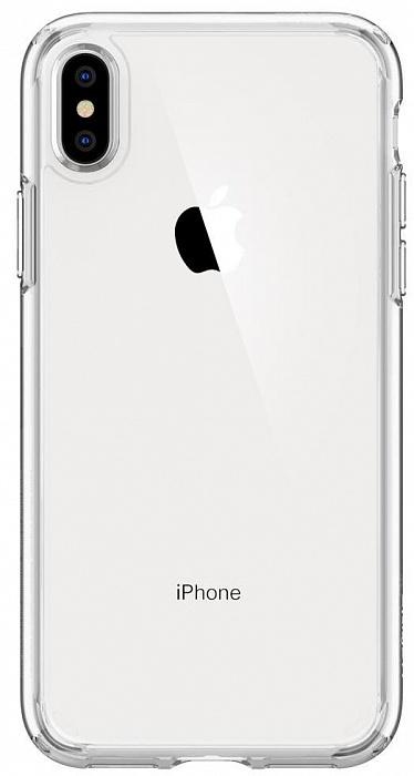 Чехол для сотового телефона SGP Ultra Hybrid (065CS25127) для iPhone Xs Max, прозрачный цены онлайн