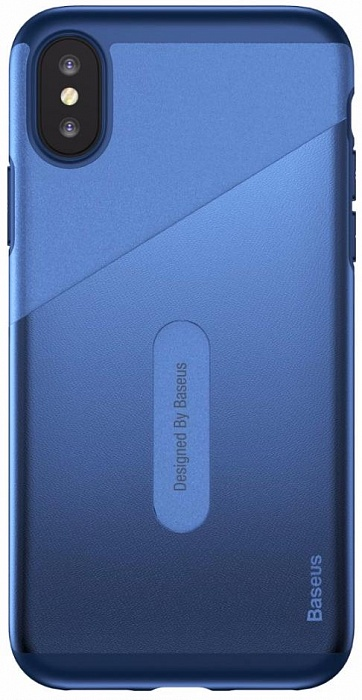 Чехол для сотового телефона Card Pocket Case (WIAPIPHX-KA15) для Apple iPhone X, синий flower print card case