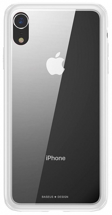 Чехол для сотового телефона Baseus See-through Glass (WIAPIPH61-YS02) для Apple iPhone XR, белый braless see through backless babydoll