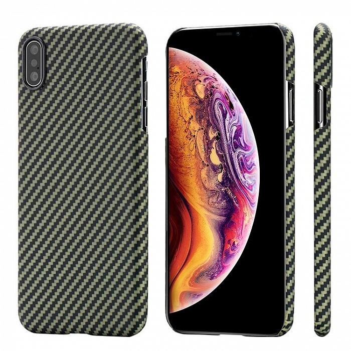 Фото - Чехол для сотового телефона Pitaka MagCase для iPhone Xs Max, желтый, черный чехол pitaka magcase pro противоударный для iphone xs max черно серый