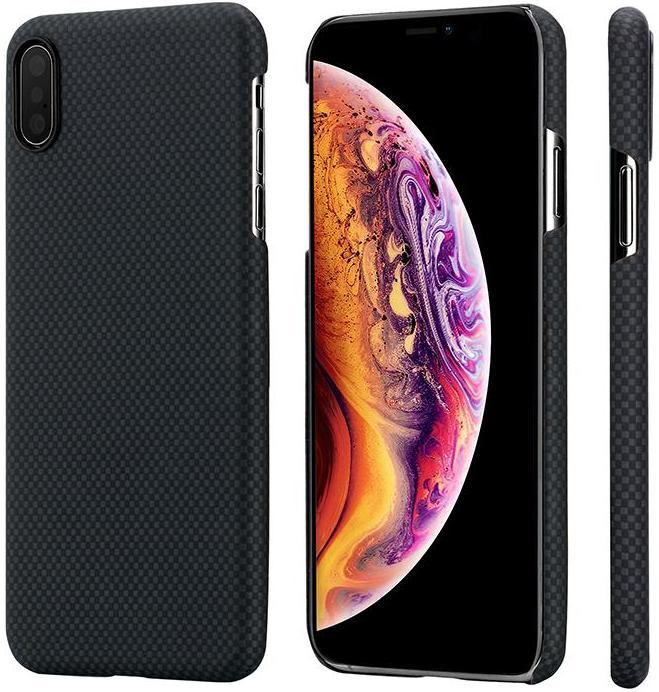 Чехол для сотового телефона Pitaka Aramid Case Plain для iPhone XS Max, черно-серый аксессуар чехол для apple iphone x pitaka aramid case black yellow twill ki8006x