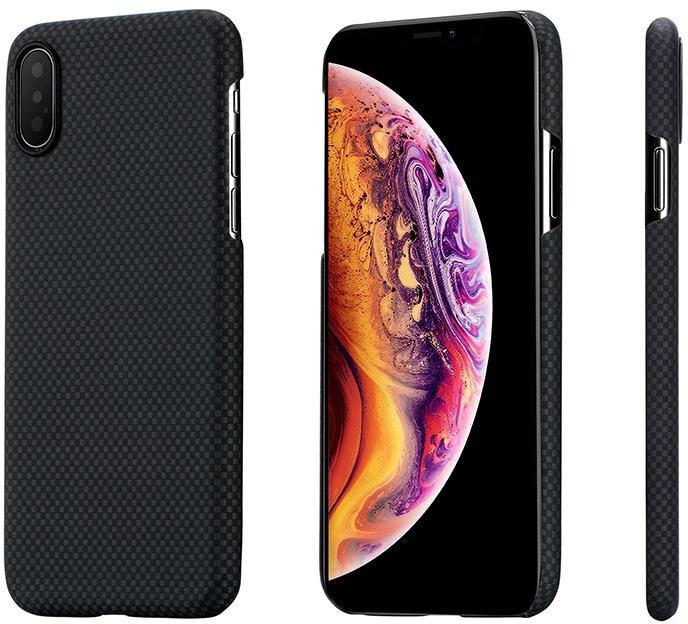 Чехол для сотового телефона Pitaka Aramid Case Plainдля iPhone XS/X, черно-серый аксессуар чехол для apple iphone x pitaka aramid case black yellow twill ki8006x