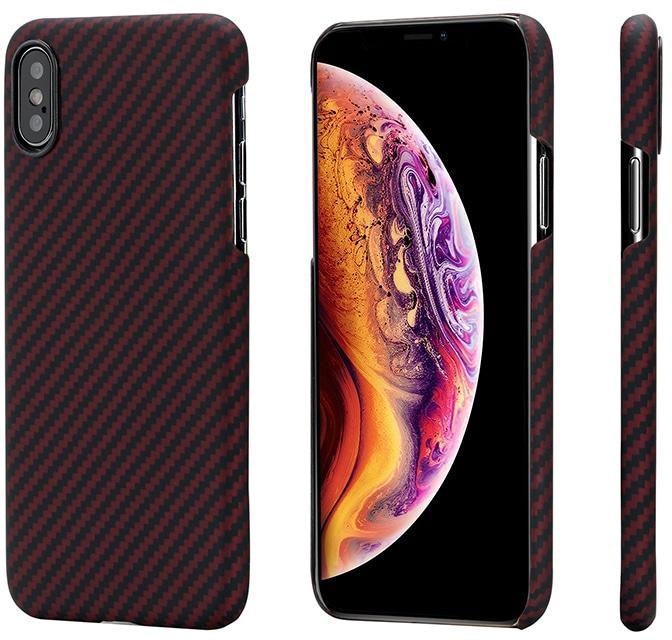 Чехол для сотового телефона Pitaka Aramid Case Twill для iPhone XS Max, черный, красный аксессуар чехол для apple iphone x pitaka aramid case black yellow twill ki8006x