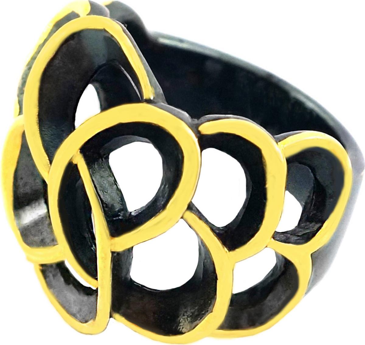 Кольцо Диадема, серебро 925, 16,75, 01RG6415KСереброЭффектное кольцо выполнено из серебра с покрытием черным родием и позолотой. Необычный дизайн не может остаться не замеченным. Удобно сидит на руке. • Не замеряйте замерзшие пальцы, в этот момент их размер отличается от обычного. Для точного определения размера, замеряйте ваш палец в конце дня, когда его размер является наибольшим. • Определите, размер какого пальца вам необходимо узнать. Помолвочные и обручальные кольца принято носить на безымянном пальце правой руки. • Если вам подходят два размера, стоит выбрать больший. • Если сустав шире самого пальца – измеряйте диаметр сустава. • Если вы хотите приобрести кольцо с ободком шире 4 мм, его размер должен быть примерно на полразмера больше обычного.