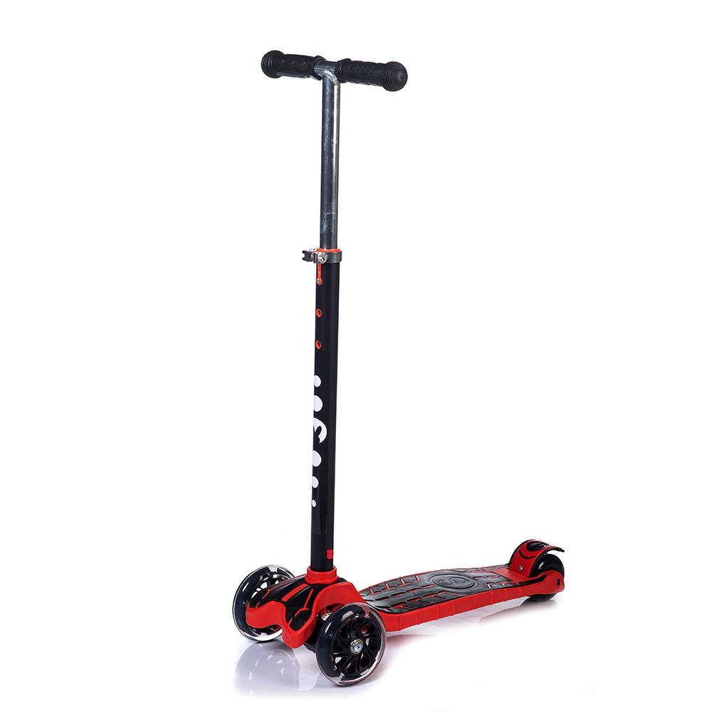 Самокат Babyhit MAXI, красный, черный самокат 3 х колесный babyhit scooterok черный
