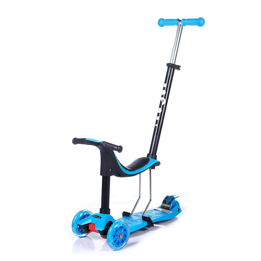 Самокат Babyhit MULTI, голубой самокат 3 х колесный babyhit babyhit самокат беговел трансформер scooterok tolocar green зеленый