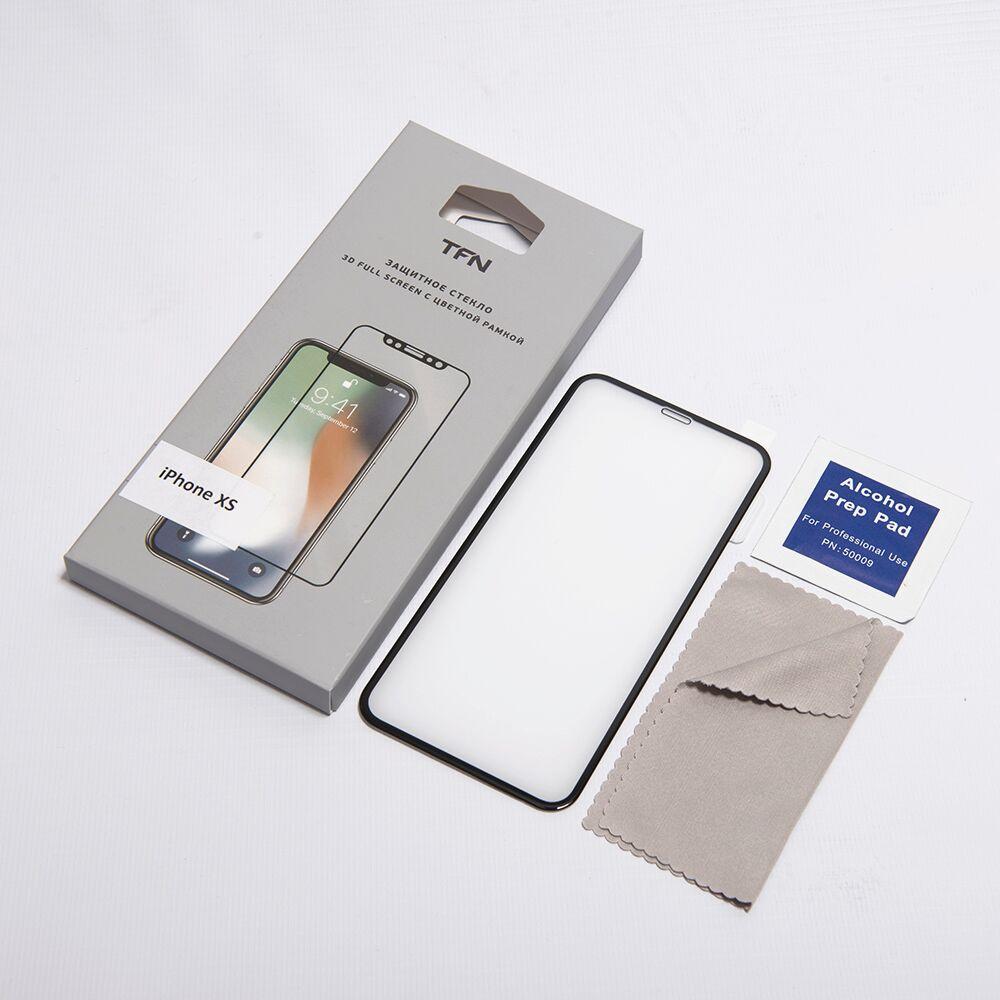 Защитное стекло TFN TFN-SP-07-009G3B защитное стекло для iphone xs brosco 3d изогнутое по форме дисплея с черной рамкой