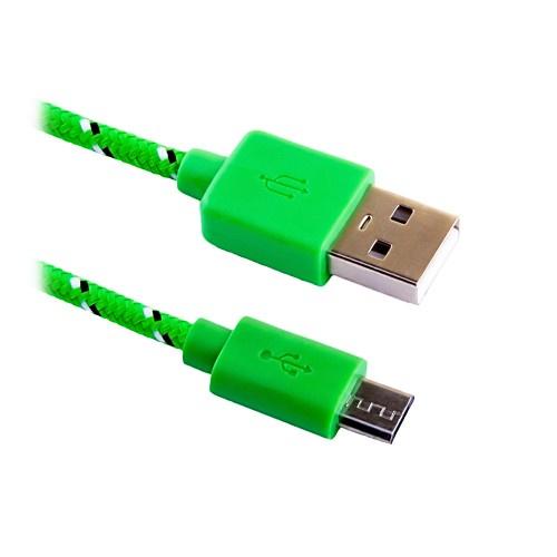 Кабель microUSB - USB BLAST BMC-122 в тканевой оплетке кабель usb microusb 0 5m fuse chicken travel m в стальной оплетке серебристый