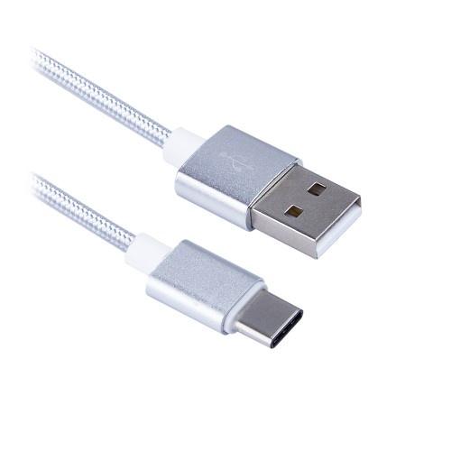 Кабель Type-C - USB BLAST BMC-411, в тканевой оплетке кабель type c usb blast bmc 416 в тканевой оплетке