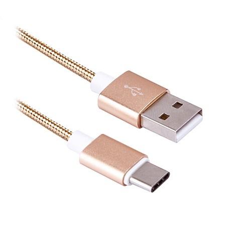 Кабель Type-C - USB BLAST BMC-416, в тканевой оплетке