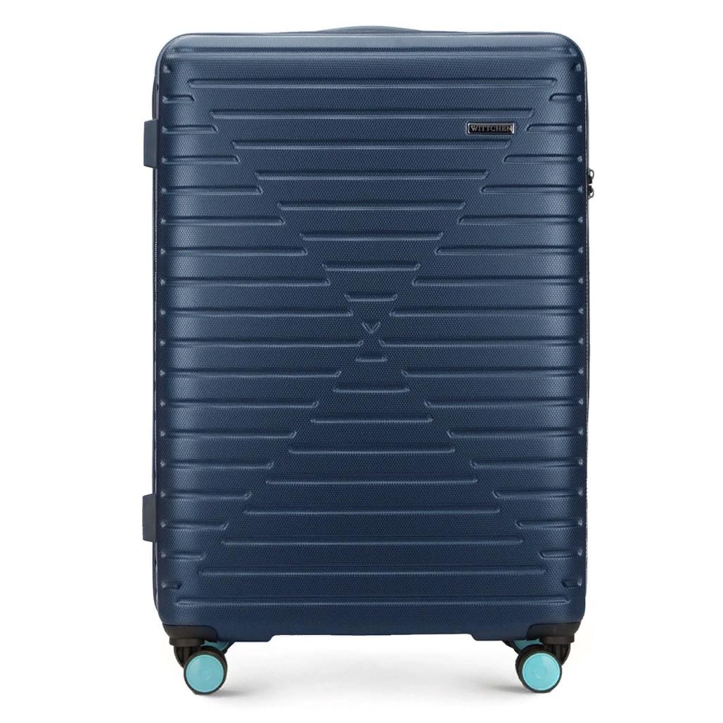 Чемодан WITTCHEN ABS, синий56-3A-453-90Чемодан на колёсах WITTCHEN из ударопрочного пластика ABS. Стильный чемодан темно-синего цвета с яркими двойными колесами из ABS пластика. Имеет 4 колесика, выдвижную ручку, прорезиненную ручку (сверху), главное отделение на молнии с кодовым замком TSA, разделённое на две части; отделение с ремешками фиксаторами для одежды, отделение на молнии, карман сетка на молнии, карман на молнии.Формат ручная кладь.