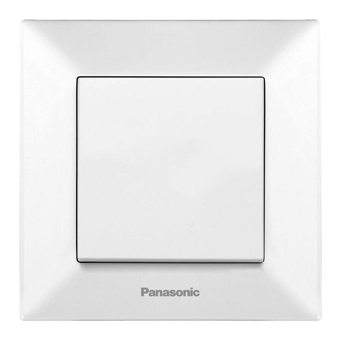 цена на Выключатель Panasonic Выключатель 1 клавишный белый Arkedia, белый