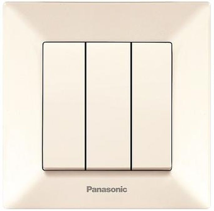 Выключатель Panasonic Выключатель 3 клавишный крем Arkedia, кремовый schneider lexel этюд крем выключатель 3 клавишный bc10 003k