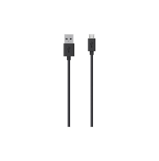 Кабель BELKIN MIXIT - MicroUSB - USB, 2 м, черный кабель belkin mixit duratek usb c cable built with dupont kevlar золотой