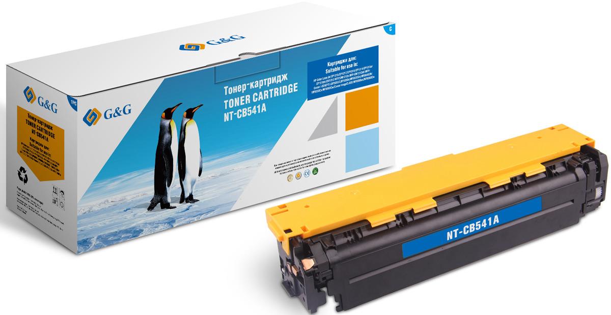 Картридж G&G NT-CB541A, голубой, для лазерного принтера цена
