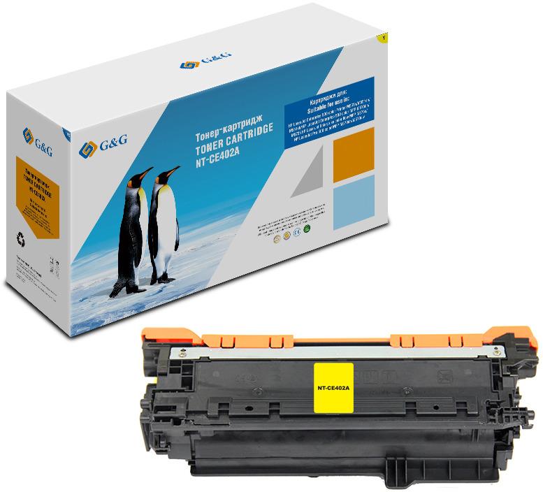 Картридж G&G NT-CE402A, желтый, для лазерного принтера картридж nvp совместимый hp ce402a для clj color m551 6000k жёлтый
