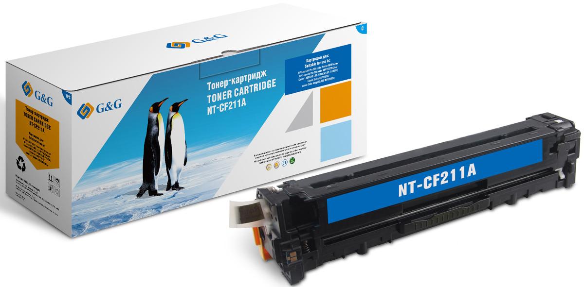 Картридж G&G NT-CF211A, голубой, для лазерного принтера