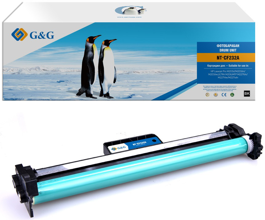 Фотобарабан G&G NT-CF232A для HP LaserJet Pro M203d/dn/dw MFP M227fdn/fdw/sdn (23000 стр), черный