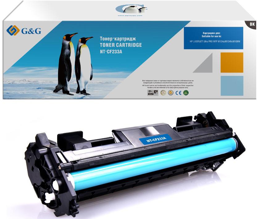 Картридж G&G NT-CF233A, черный, для лазерного принтера тонер картридж hp 33a laserjet cf233a