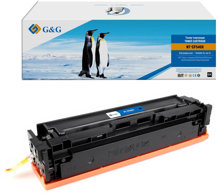 Картридж G&G NT-CF540X, черный, для лазерного принтера тонер картридж hp cf540x