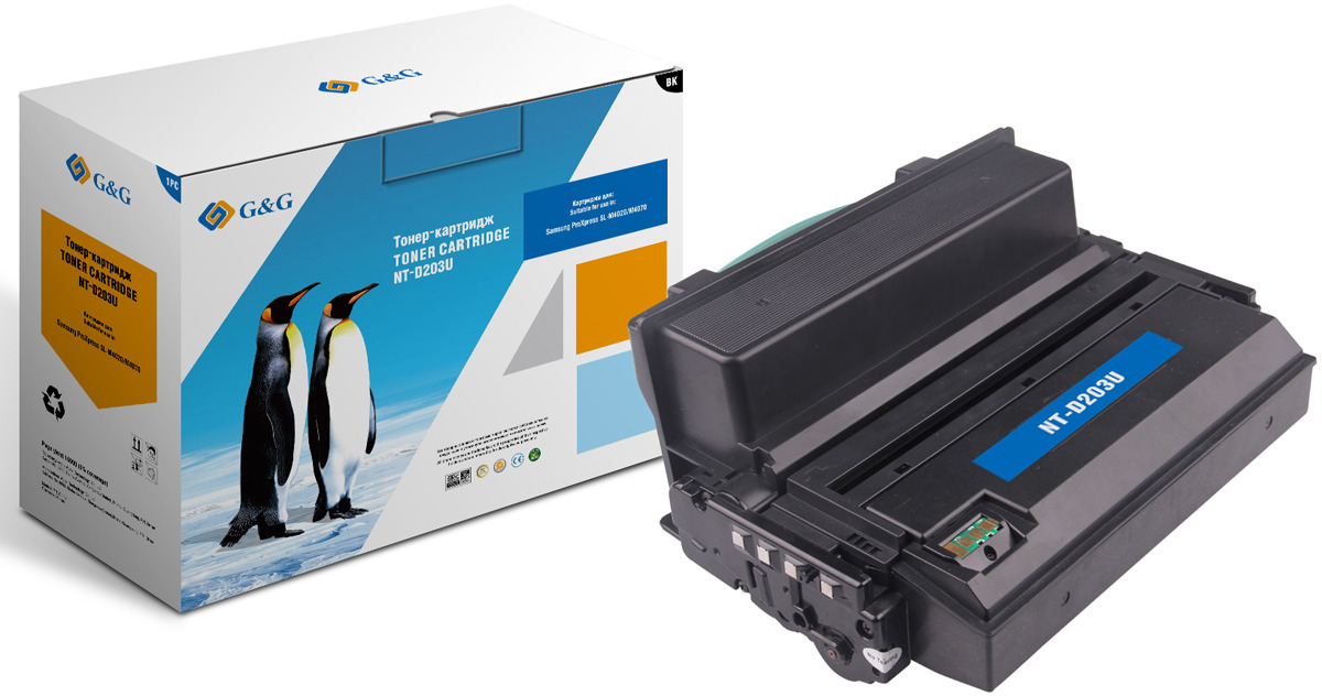Картридж G&G NT-D203U, черный, для лазерного принтера