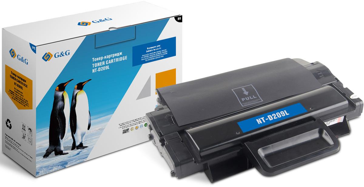 Картридж G&G NT-D209L, черный, для лазерного принтера картридж sakura mltd209l для samsung ml 2855nd scx 4824fn 4828fn