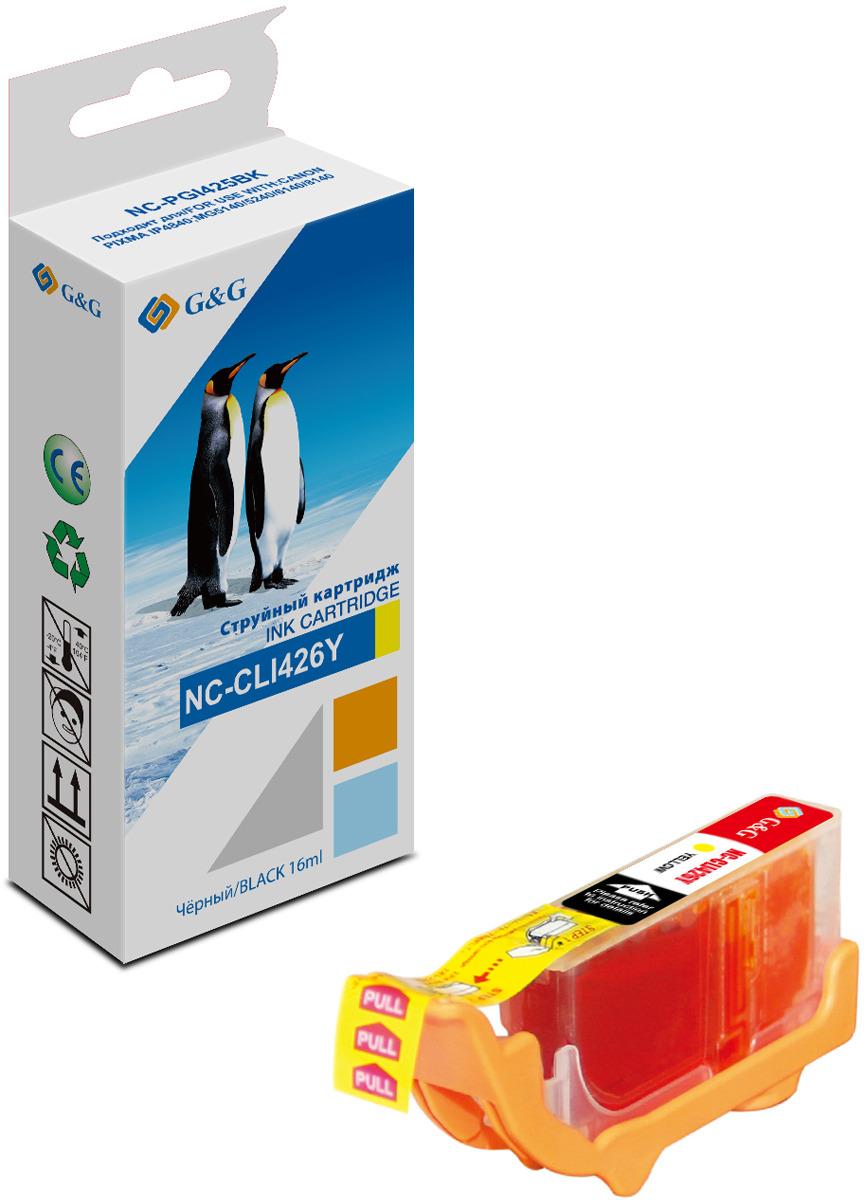 Картридж G&G NC-CLI-426Y для Canon Pixma IP4840 MG5140/5240/6140/6540/8140, желтый картридж blossom bs cli 426y yellow для canon mg5240 mg5140 ip4840 6140 8140