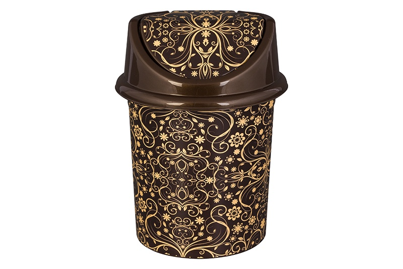 Мусорное ведро Violet Элегант темный, коричневый мусорное ведро violet элегант темный с подвижной крышкой 811452 коричневый бежевый