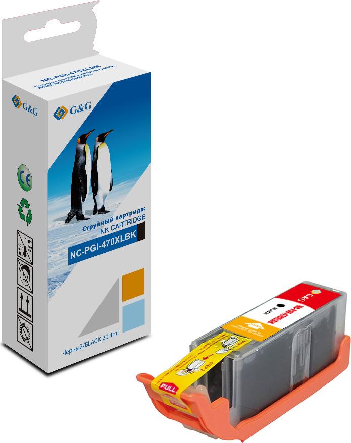 Картридж G&G NC-PGI-470XLBK для Canon Pixma MG5740/6840/7740 (21.4 ml), черный g
