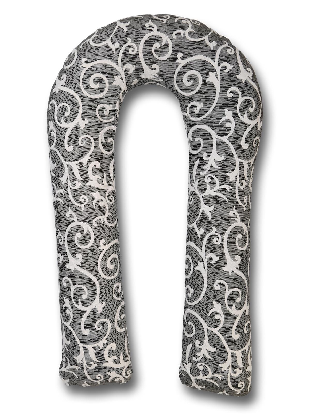 Подушка для кормящих и беременных Body Pillow Подушка для беременных и кормящих вензеля, серый