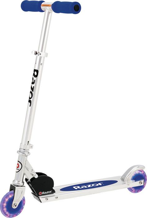 Самокат для детей Razor A Light Up, синий аксессуары для велосипедов и самокатов razor картридж для самоката spark