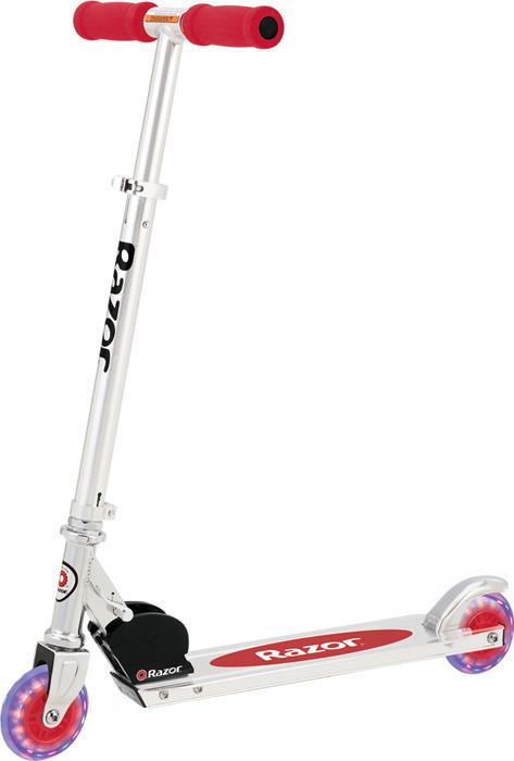 Самокат для детей Razor A Light Up, красный аксессуары для велосипедов и самокатов razor картридж для самоката spark