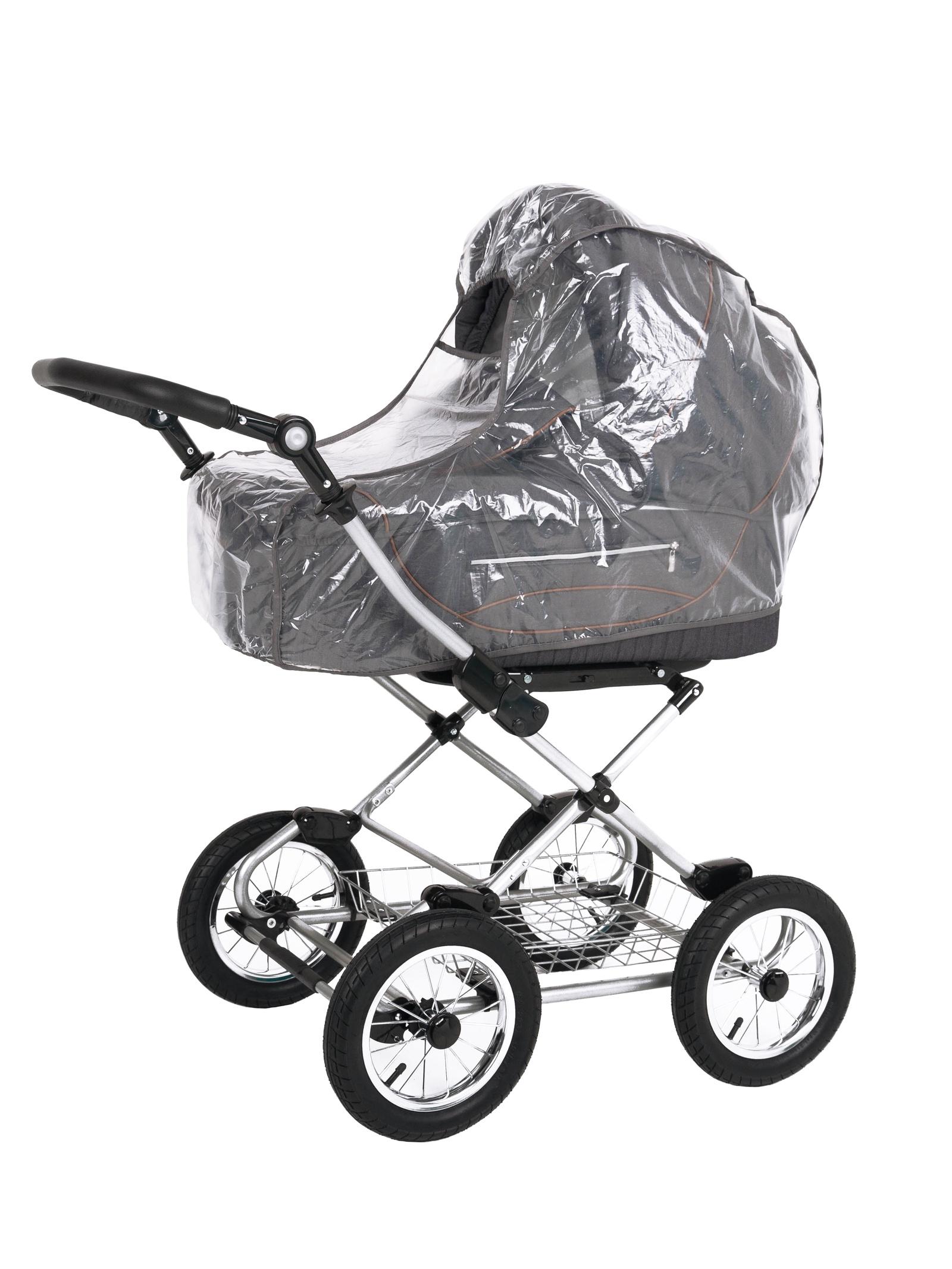 Аксессуар для колясок Trottola Дождевик на коляску люльку CLASSIC прозрачный сетка полог help 140x90 см на детскую коляску или люльку 1066664