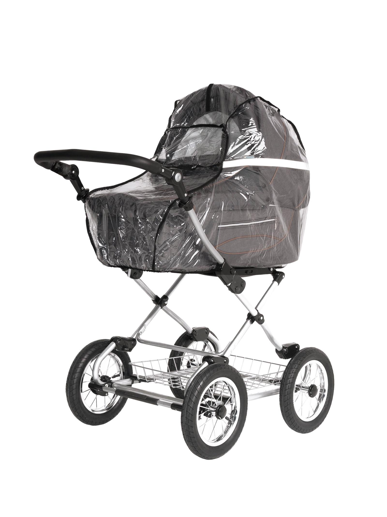 Аксессуар для колясок Trottola Дождевик на коляску люльку со светоотражением REFLECT PLUS CLASSIC прозрачный цена