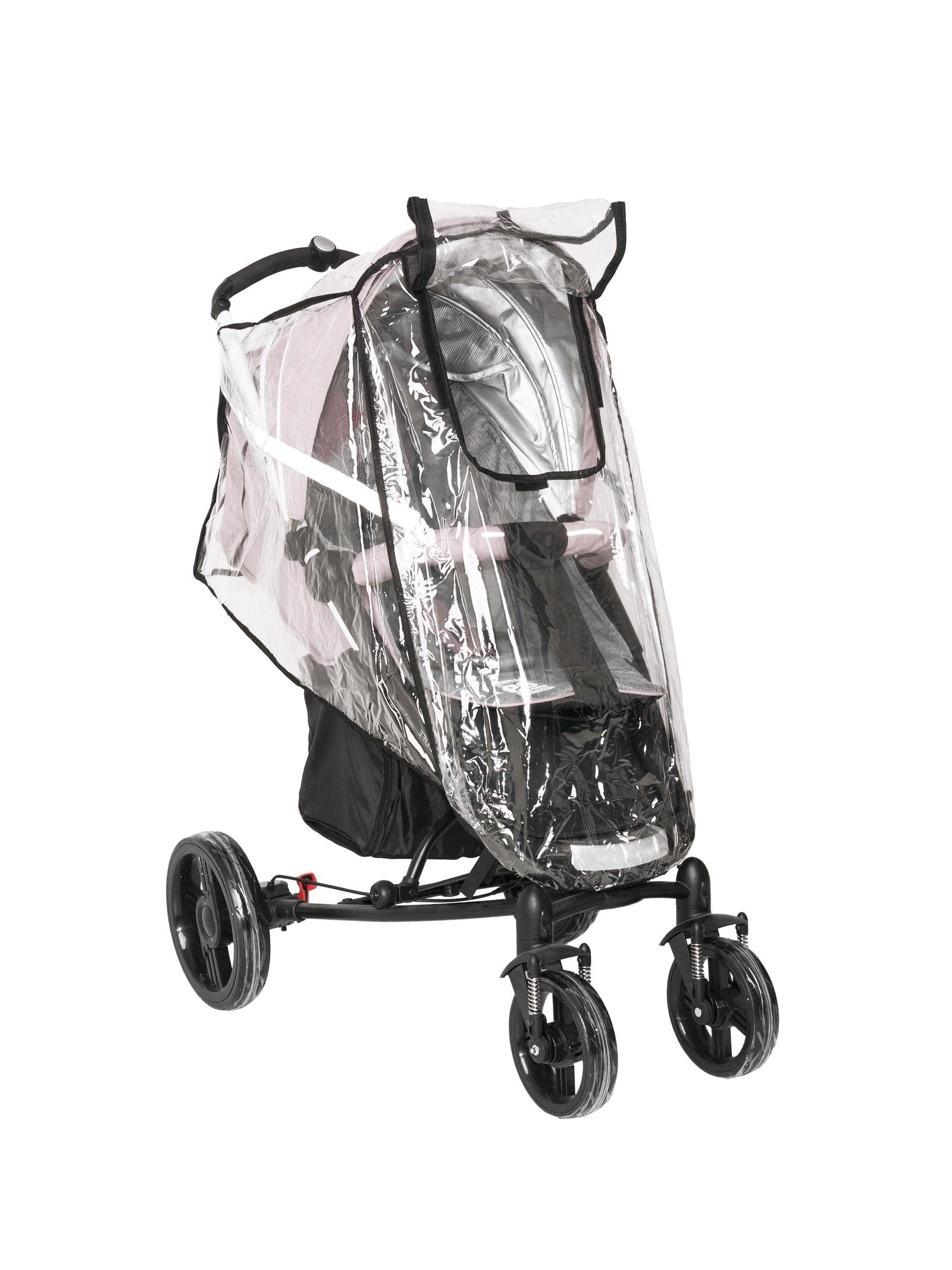 Аксессуар для колясок Trottola Дождевик на прогулочную коляску со светоотражением REFLECT PLUS TRAVEL прозрачный цена