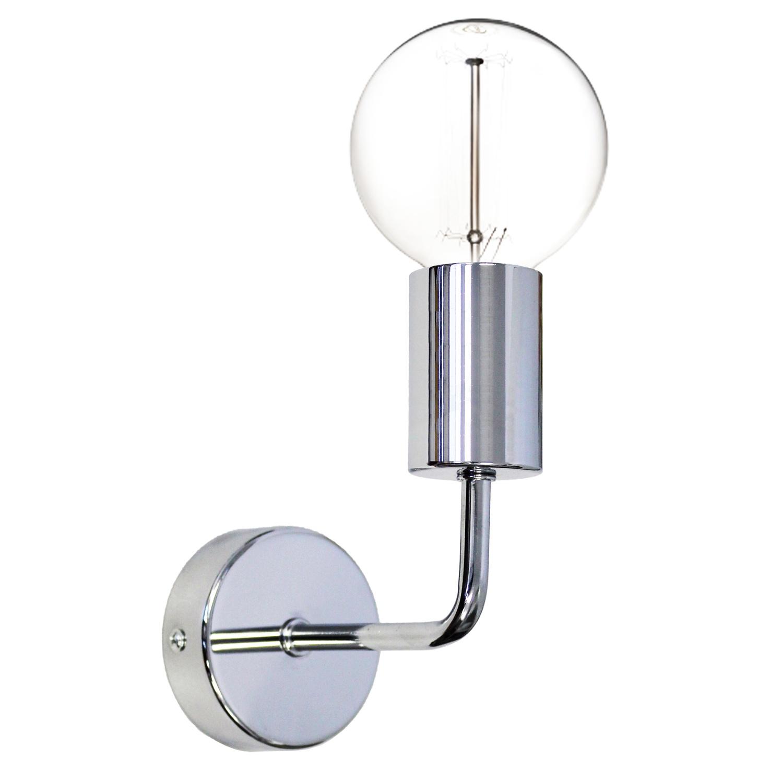 Настенный светильник 33 идеи Лофт хром, E27, 75 Вт