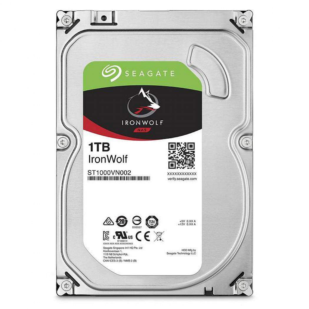 Внутренний жесткий диск Seagate HDD 1TB IronWolf, SATA-III, 5900 RPM, 64 Mb, 3.5